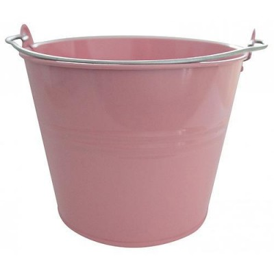 Vedro GECO 7l ružové kovové